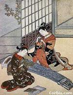 Культура и наука Японии в Средние века История Театр Образец бескомпромиссной условности дает японский театр Но 12 14 вв деревянная сцена площадью 1 7 кв м навес на четырех опорах длинный мостик